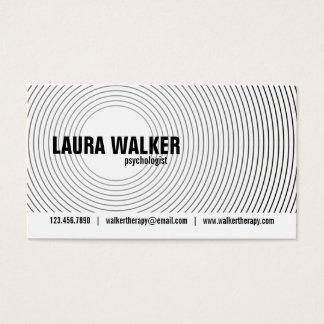 Cartes De Visite Cercles d'hypnose - noir