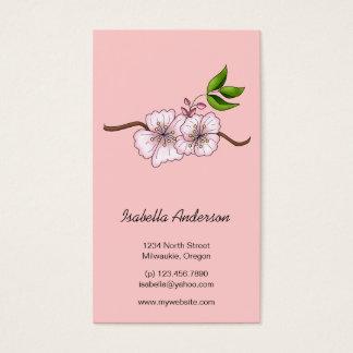 Cartes De Visite Cerises de pays · Branche de fleurs de cerisier