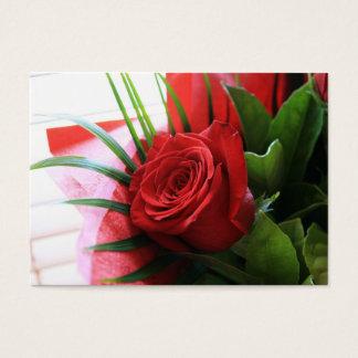 Cartes De Visite Certificat-prime de fleuriste de rose rouge