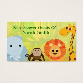 Cartes De Visite C'est un baby shower de jungle