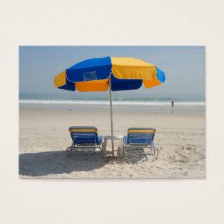 Cartes De Visite chaises de plage vides