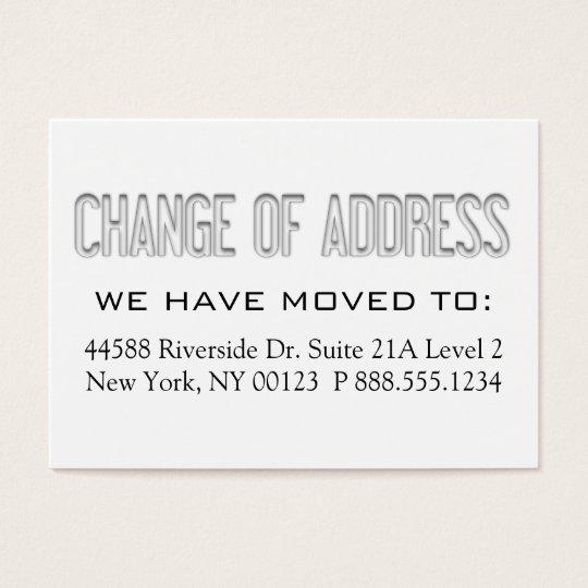 Cartes De Visite Changement Dadresse Tiquette Davis