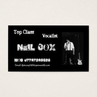 Cartes De Visite Chanteur Neil Cox