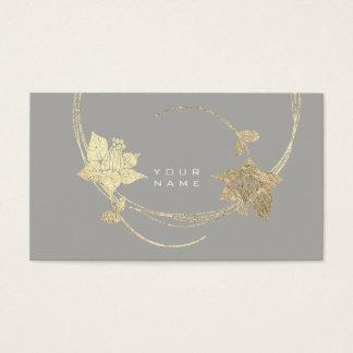 Cartes De Visite Charme floral blanc gris de Lila de rose plus rusé