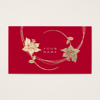 Cartes De Visite Charme lilas floral de vin rouge d'or plus rusé