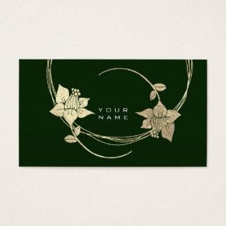 Cartes De Visite Charme vert lilas floral de Cali d'or plus rusé