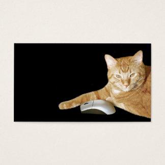Cartes De Visite Chat avec la souris d'ordinateur