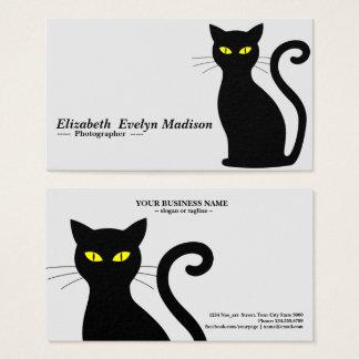 Cartes De Visite chat noir 843