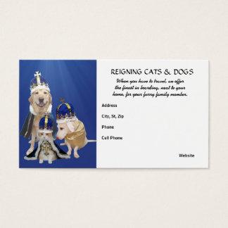Cartes De Visite Chats et chiens régnants