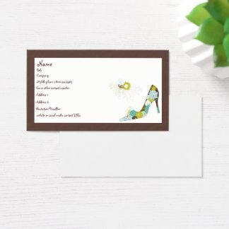Cartes De Visite Chaussure florale de talon haut