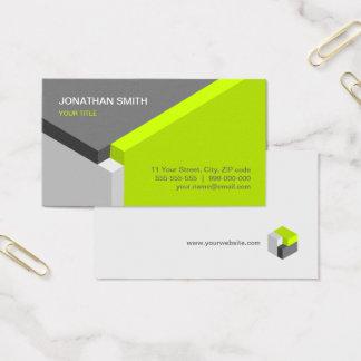 Cartes De Visite chaux de conception du cube 3D/carte de visite