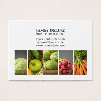 Cartes De Visite Chef blanc élégant de nutrition de légumes
