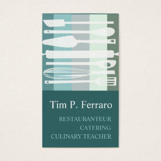 Cartes De Visite Chef culinaire à la mode de cuisinier de