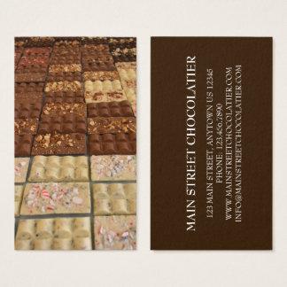 Cartes De Visite Chef de pâtisserie de magasin de Chocolatier de