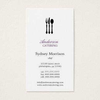 Cartes De Visite Chef moderne/restauration/restaurant de couverts