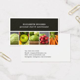 Cartes De Visite Chef professionnel élégant de légumes de photos