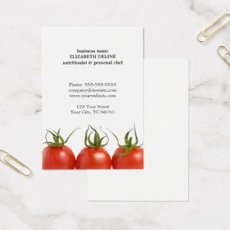 Cartes De Visite Chef propre unique de nutritionniste de santé de