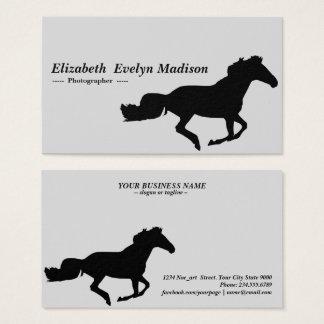 Cartes De Visite cheval 08 de silhouette
