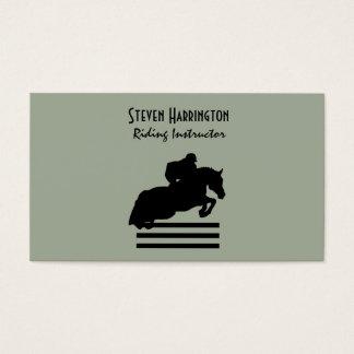 Cartes De Visite Cheval de pullover de chasseur et silhouette de