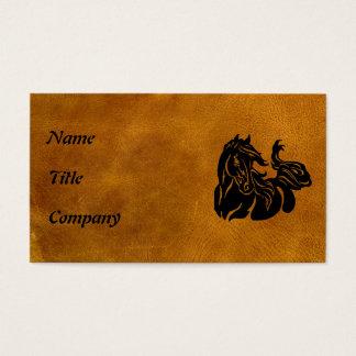 Cartes De Visite Cheval noir customisé