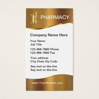 Cartes de visite chics de pharmacie
