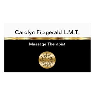 Cartes de visite chics de thérapeute de massage carte de visite standard