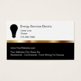 Cartes de visite chics d'Electrian
