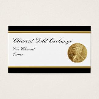 Cartes de visite chics d'investissement d'or