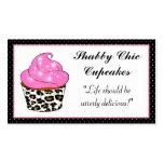 Cartes de visite chics minables de petit gâteau carte de visite