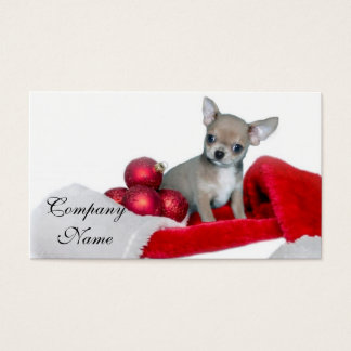 Cartes De Visite Chien de chiwawa de Noël