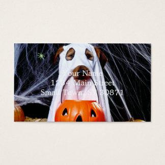 Cartes De Visite Chien de fantôme - chien drôle - poursuivez