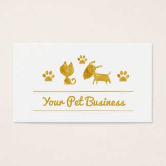 Cartes De Visite chien mignon de chat d'affaires d'animal familier