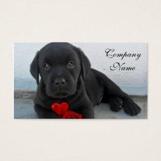 Cartes De Visite Chiot de Labrador de Valentine