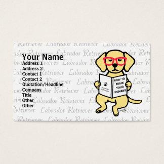 Cartes De Visite Chiot jaune de Labrador de hippie