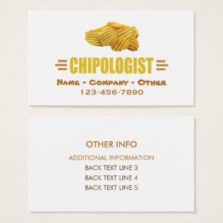 Cartes De Visite CHIPSOLOGIST - Pommes chips humoristiques