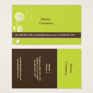 Cartes De Visite Chocolat de noir de couleur de DANDELIONS/DIY/vert