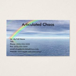 Cartes De Visite Ciel bleu avec l'arc-en-ciel