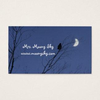 Cartes De Visite Ciel nocturne de croissant de lune