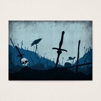 Cartes De Visite Cimetière avec des crânes et Ravens