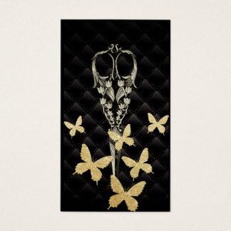 Cartes De Visite Ciseaux d'antiquité de papillon d'or de Moden de