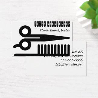 Cartes De Visite Ciseaux et entreprises de cheveux de peigne
