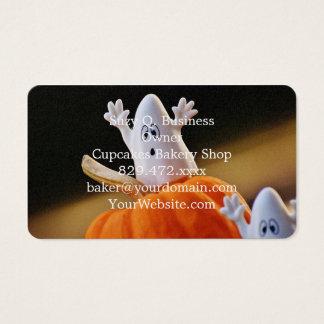Cartes De Visite Citrouille et fantôme - fantôme drôle - citrouille