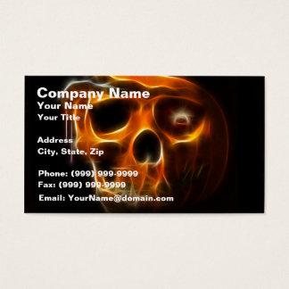 Cartes De Visite Citrouille frais de la mort de Halloween