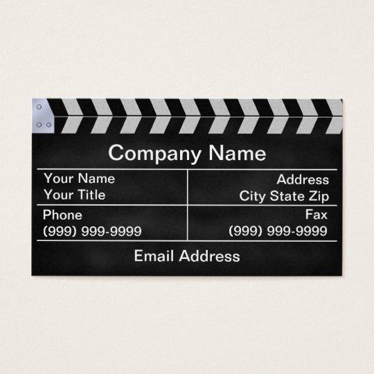 Cartes De Visite clap cinéma
