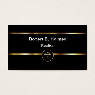 Cartes de visite classieux d'agent immobilier