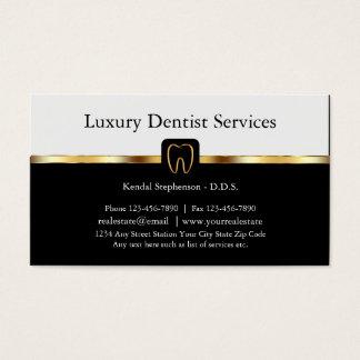Cartes de visite classieux de dentiste