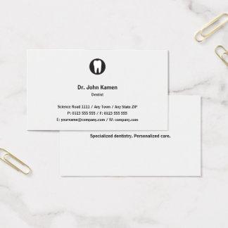 Cartes De Visite Classique classique du dentiste |