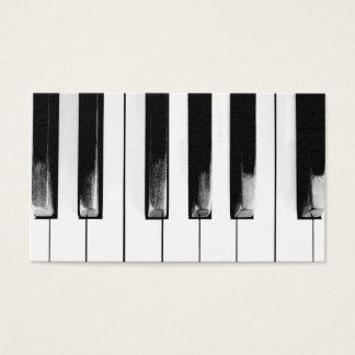 Cartes De Visite Clés de piano