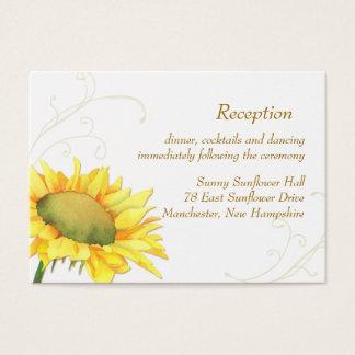 Cartes De Visite Clôture de réception de mariage de tournesol