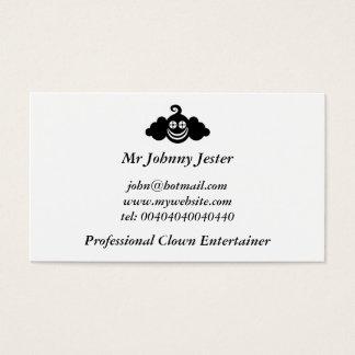 Cartes De Visite Clown noir, M. Johnny Jester